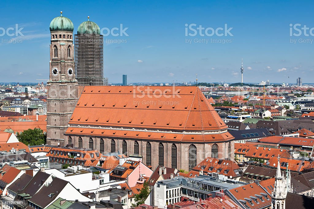 Munich Cathedral, Church of Our Lady - Frauenkirche royalty-free stock photo