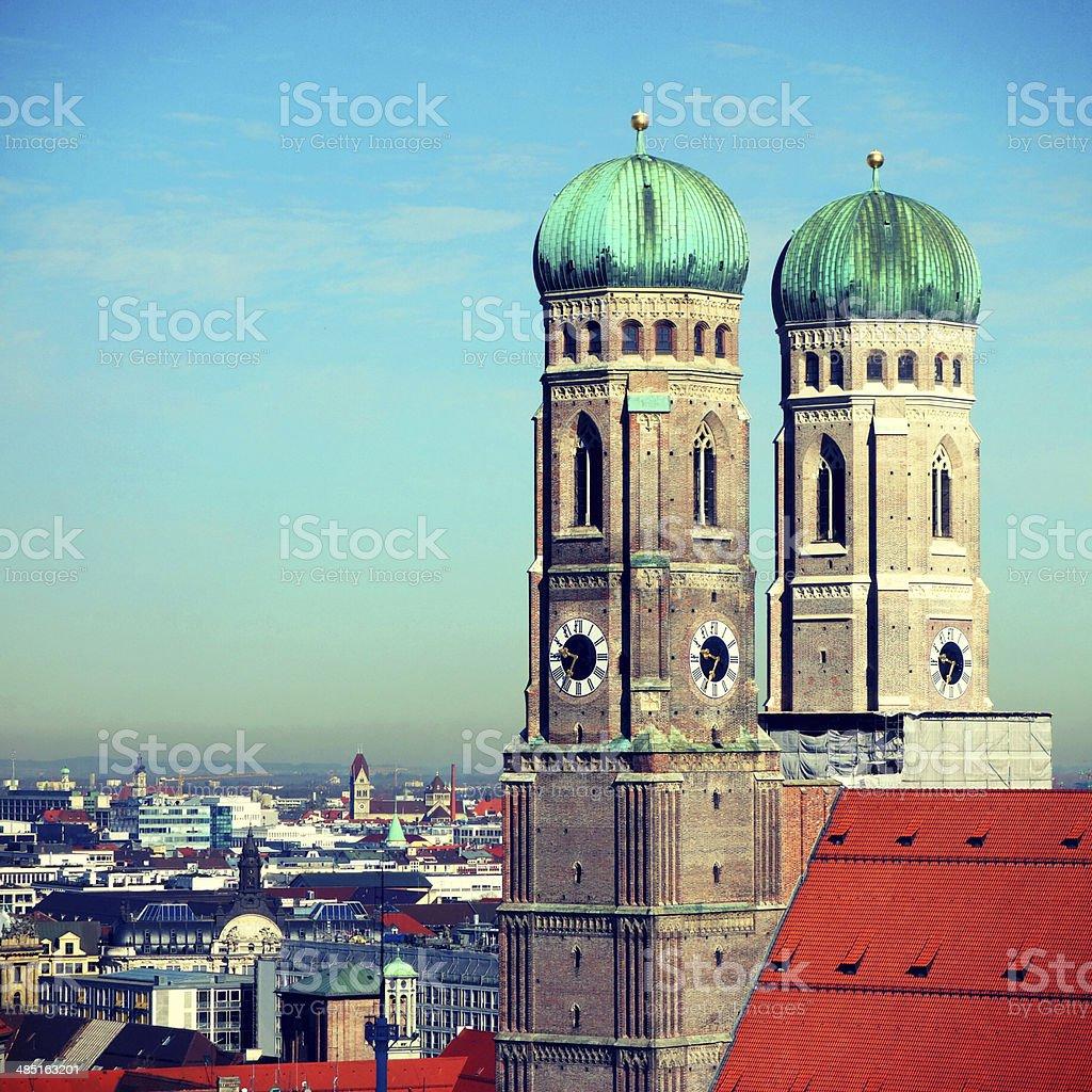 Munich Cathedral stock photo