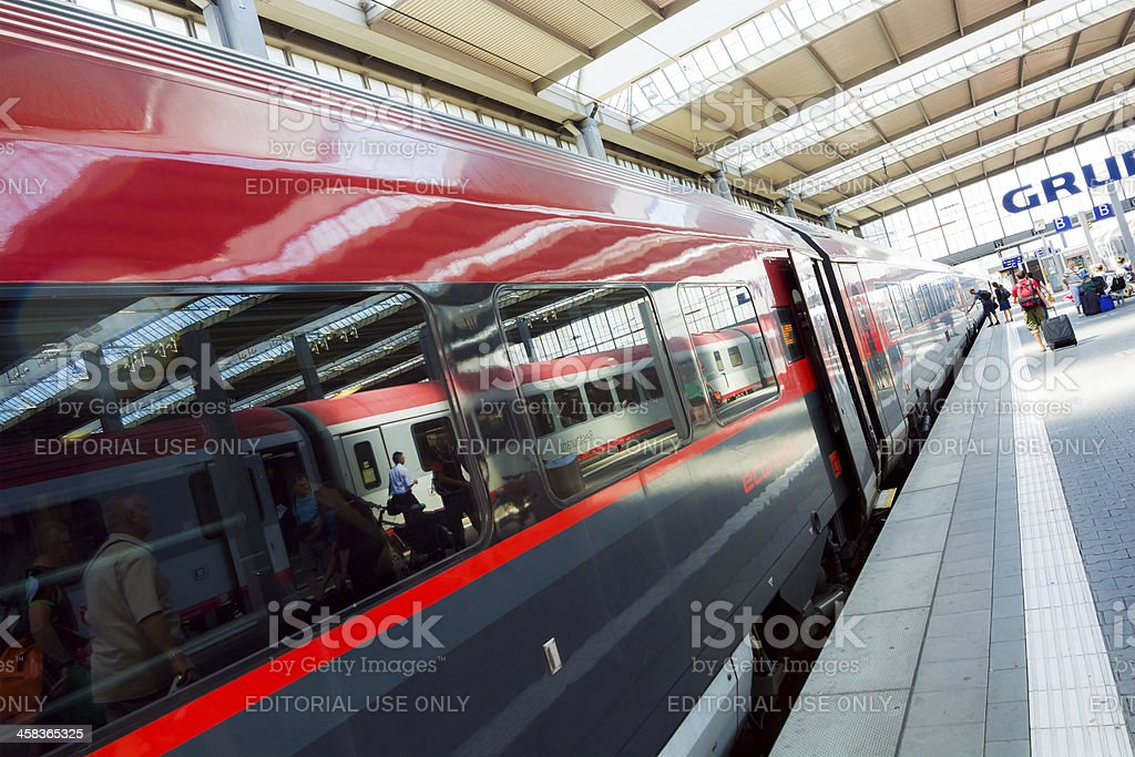 Munich Central Station in Germany royalty-free stock photo