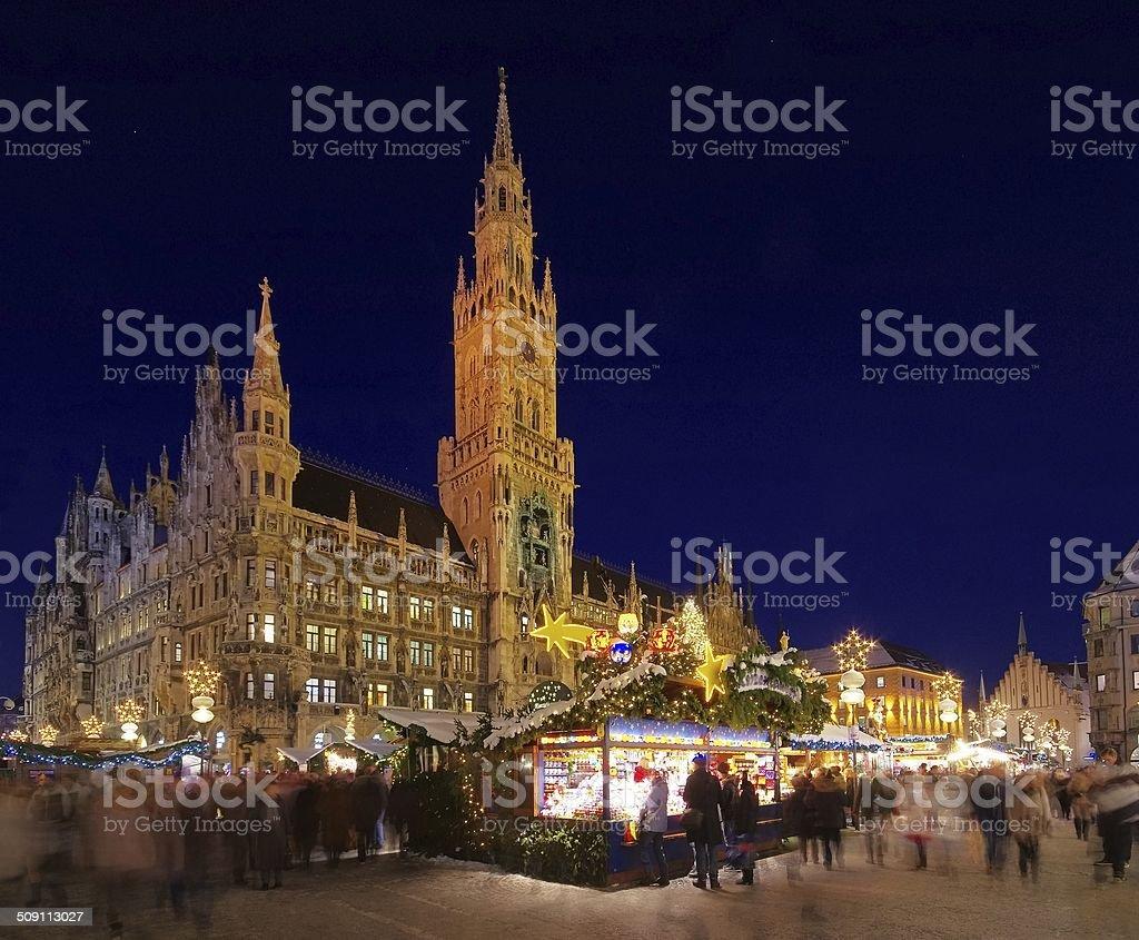 Munich christmas market stock photo
