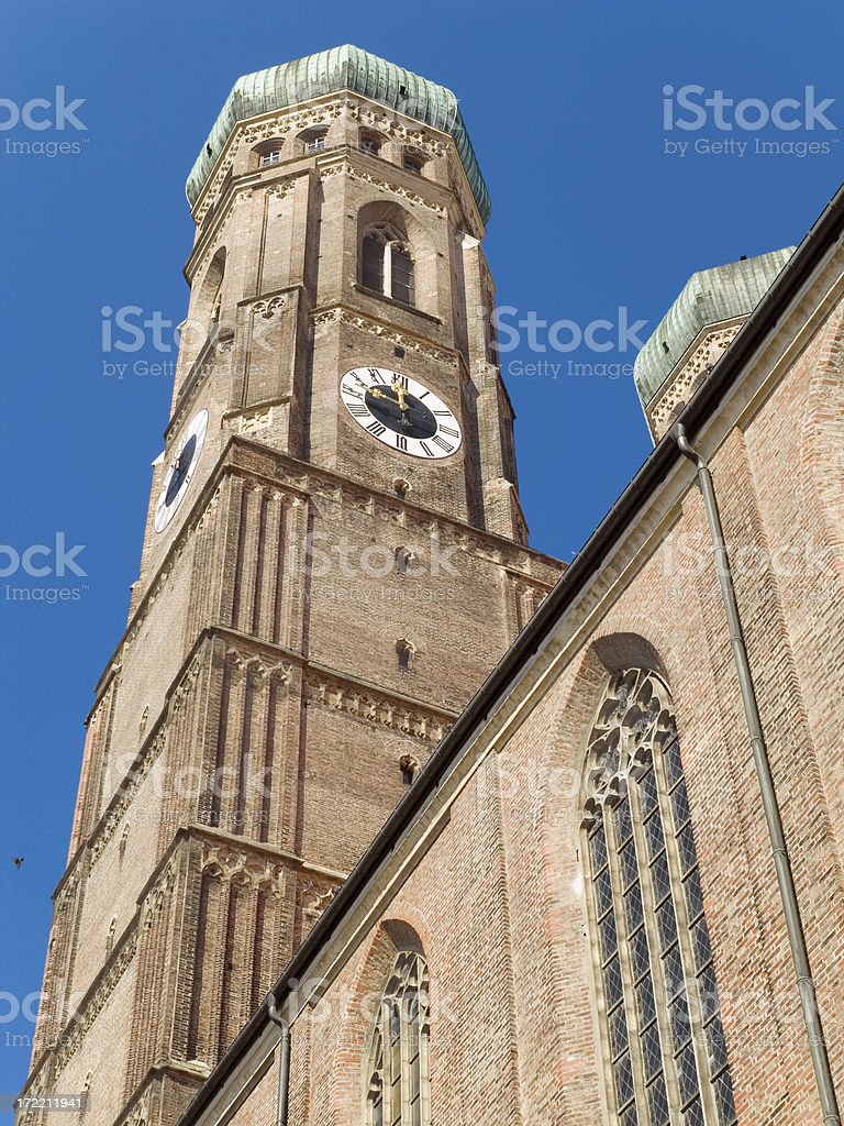 Munich churches: Church Of Our Lady (Frauenkirche) royalty-free stock photo