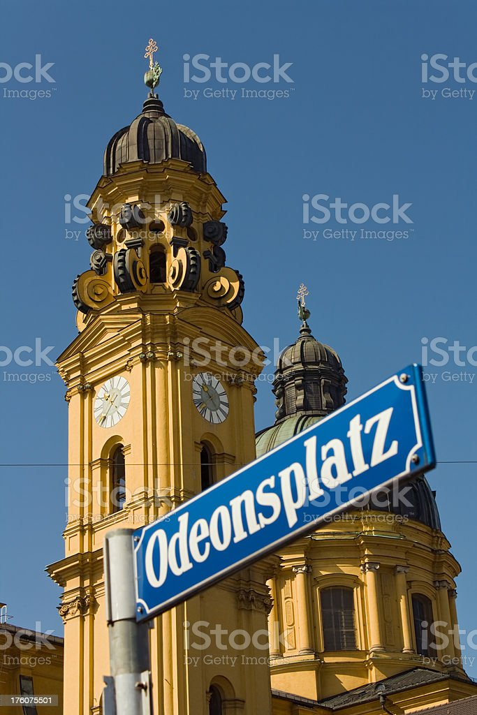 Munich Churches: St. Kajetan ( Theatinerkirche ) stock photo