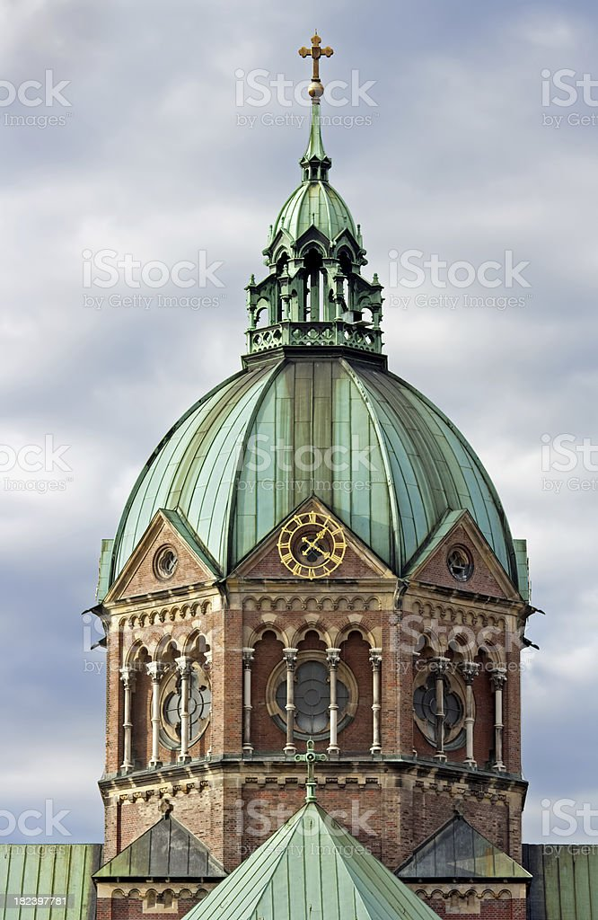 Munich Churches: St Lukas royalty-free stock photo
