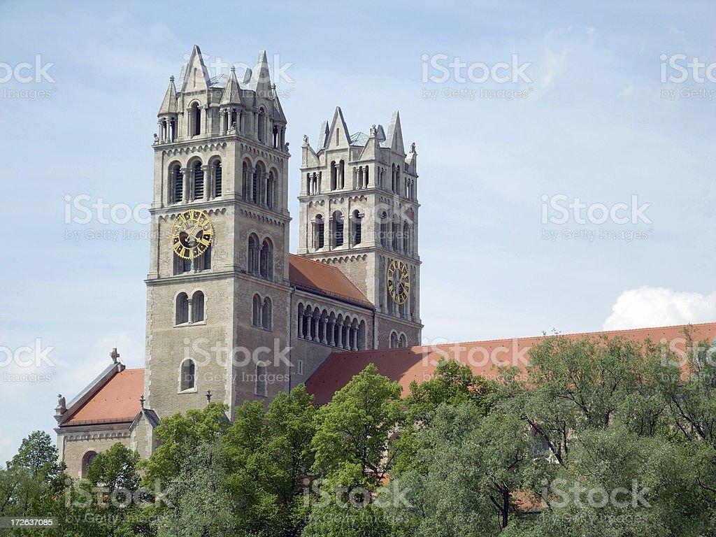 Munich Churches - St. Maximilian royalty-free stock photo
