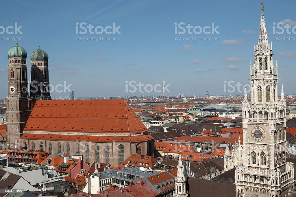 Munich City Center royalty-free stock photo