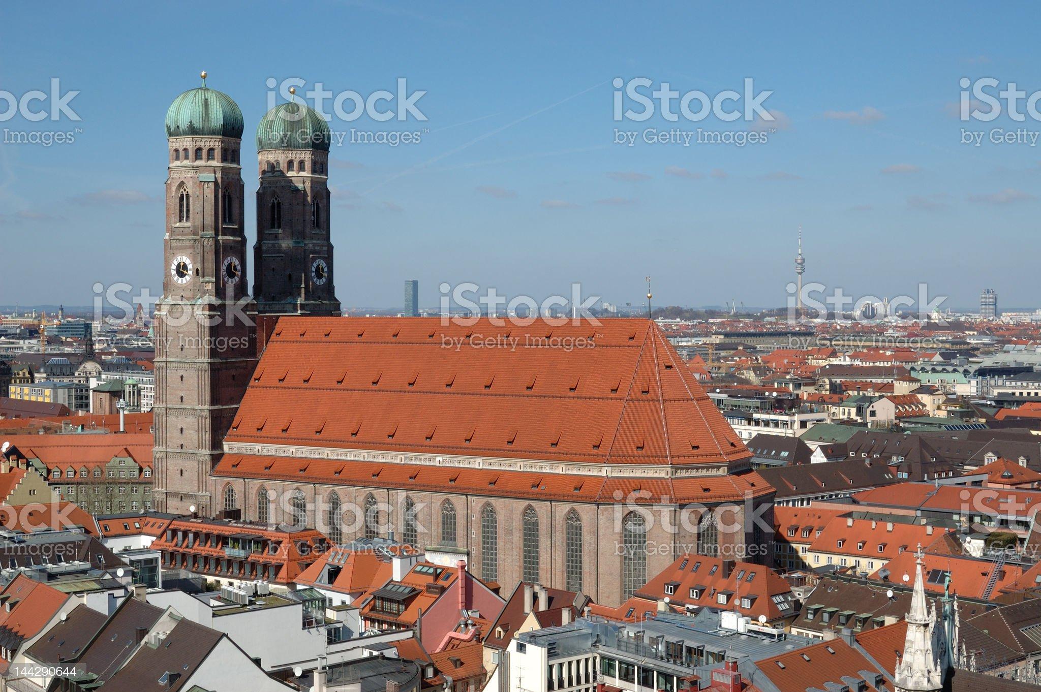 Munich Frauenkirche royalty-free stock photo