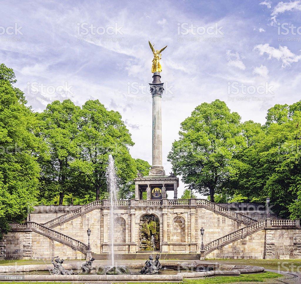 Munich Friedensengel (Angel of Peace) stock photo