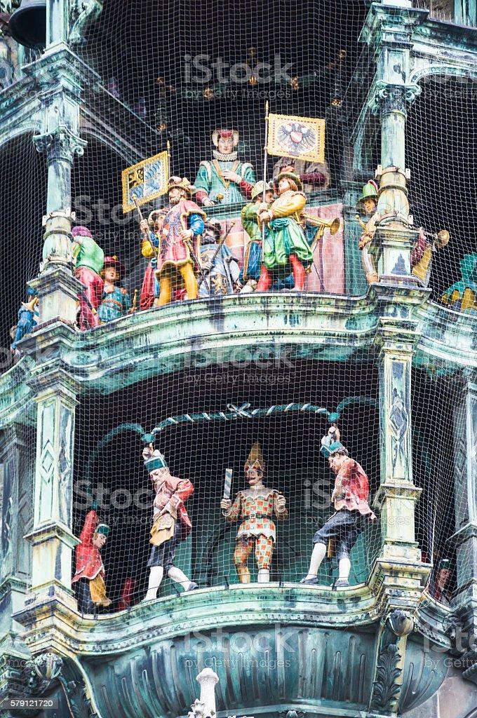 Munich Glockenspiel Performance stock photo