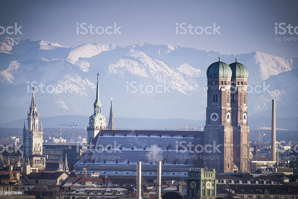 Munich in Winter stock photo