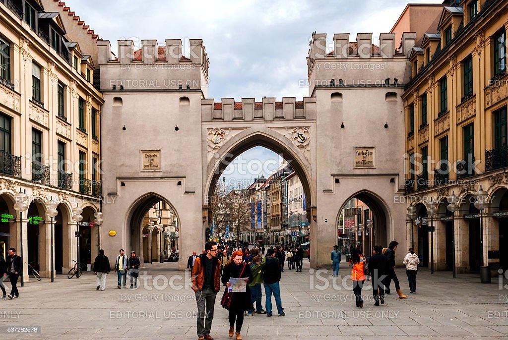 Munich Karlsplatz stock photo