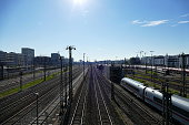 Munich. Main station railway track system.