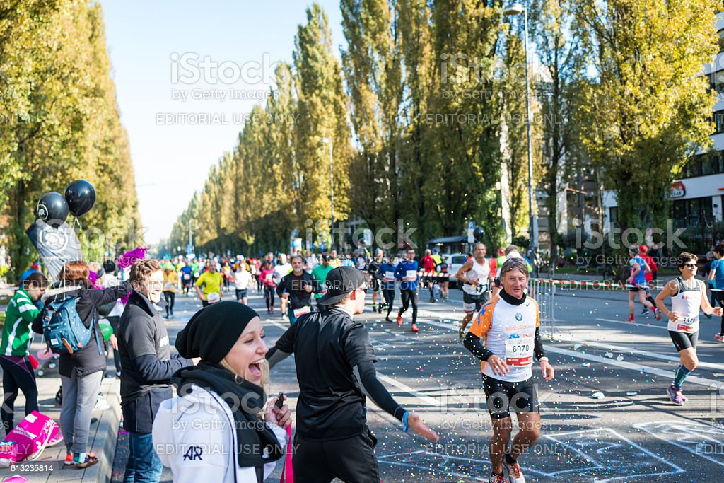 München Marathon 9. Oktober 2016 stock photo