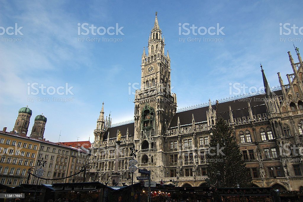 Munich - Marienplatz stock photo
