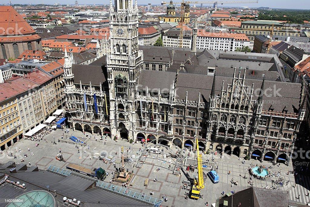 Munich Marienplatz royalty-free stock photo