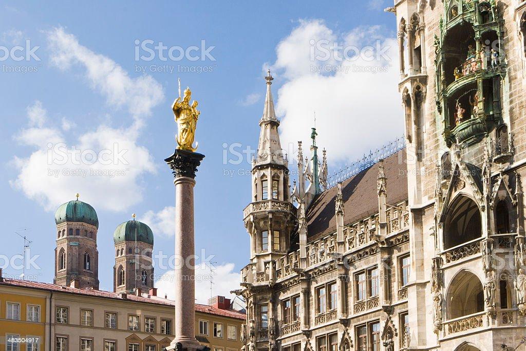 Munich Marienplatz stock photo