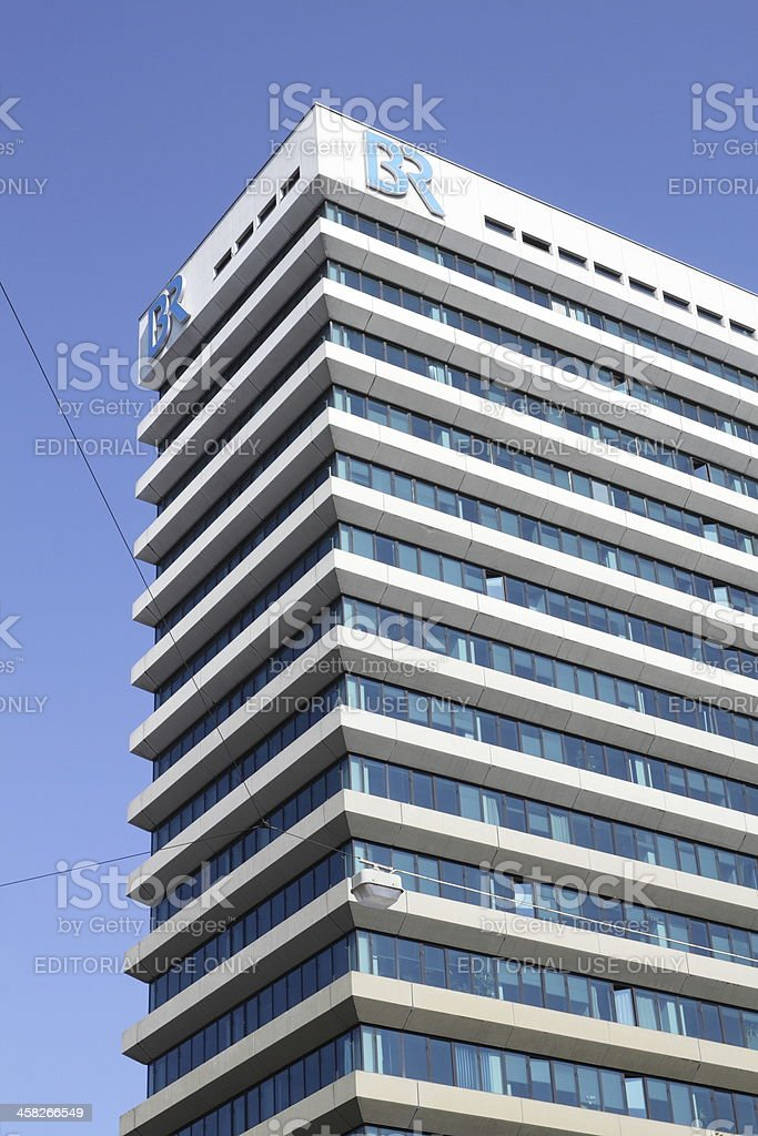Munich: Office building of the Bavarian Broadcasting(BR) royalty-free stock photo