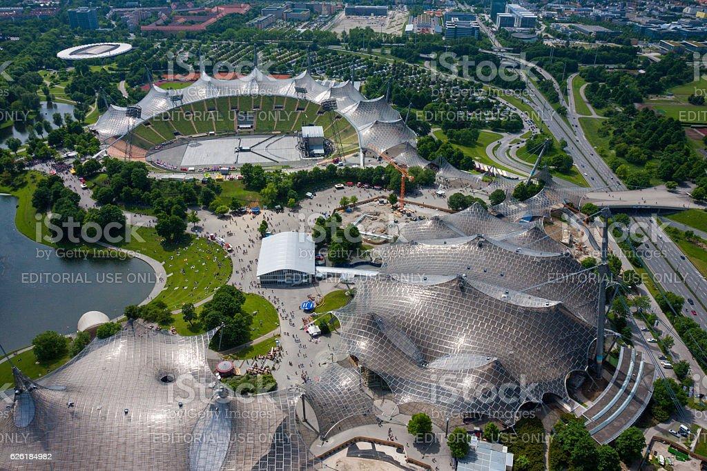 Munich Olympic Park stock photo