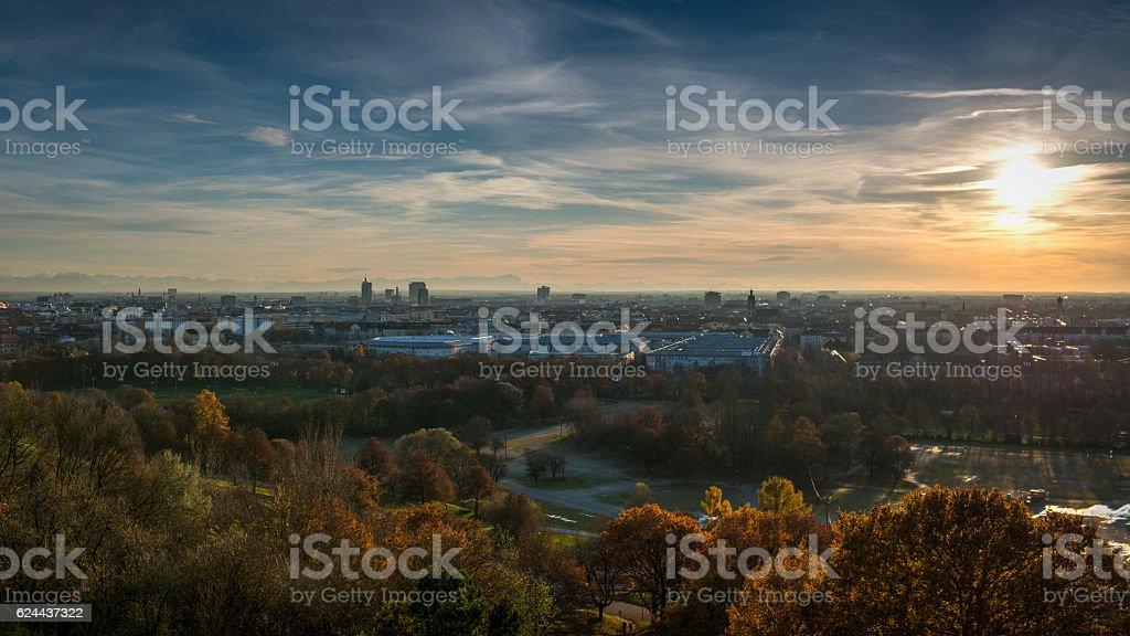 Munich panorama HDR stock photo