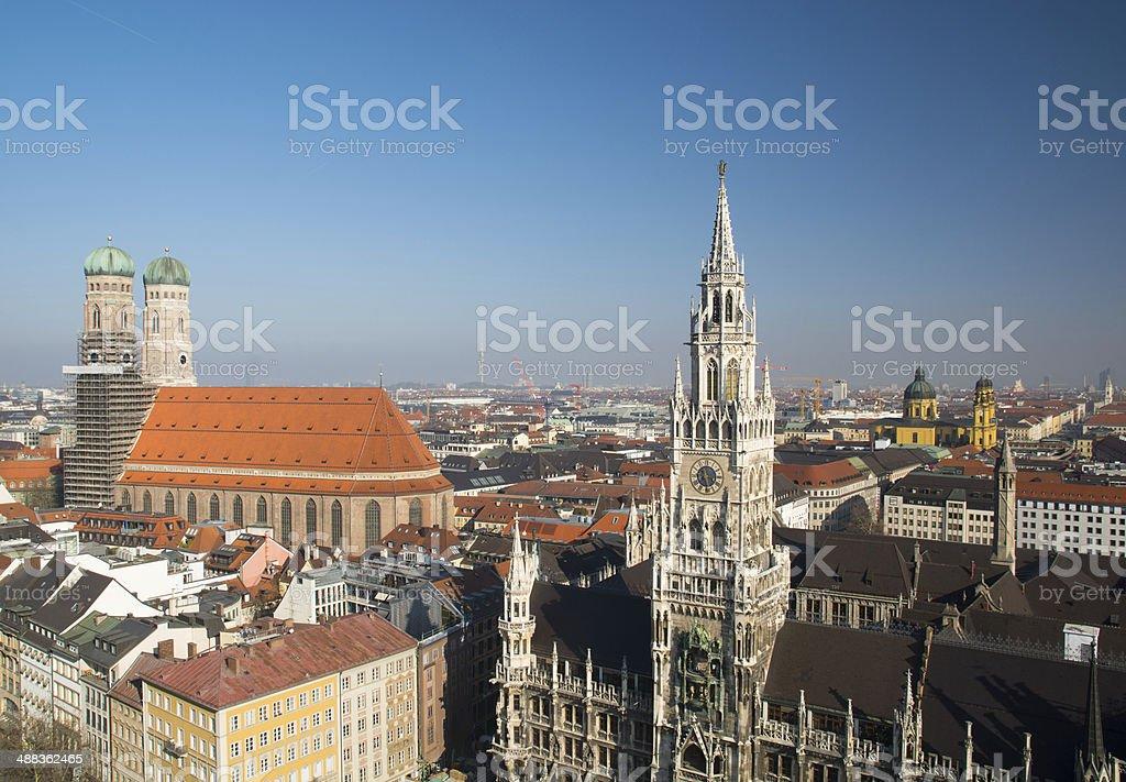 Munich panorama stock photo