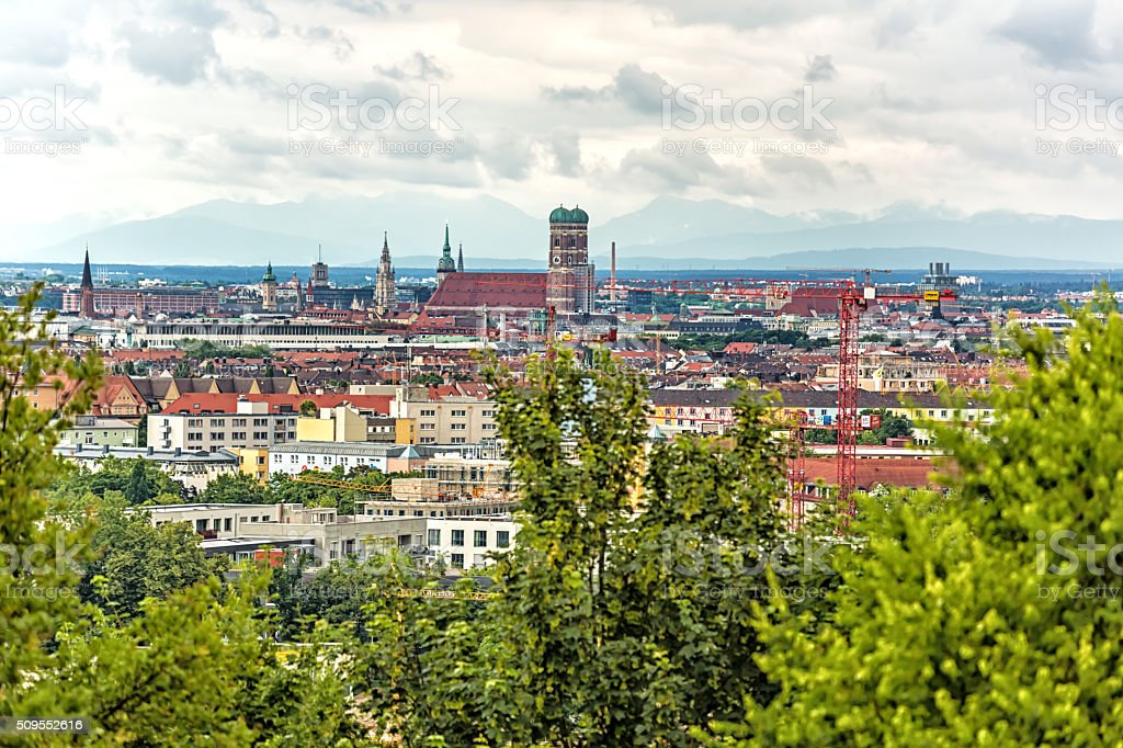 Munich Skyline stock photo