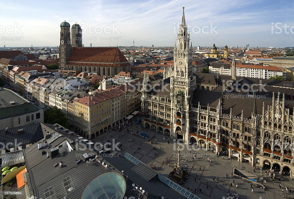 Munich Skyline with town hall and cathedral, Germany royalty-free stock photo