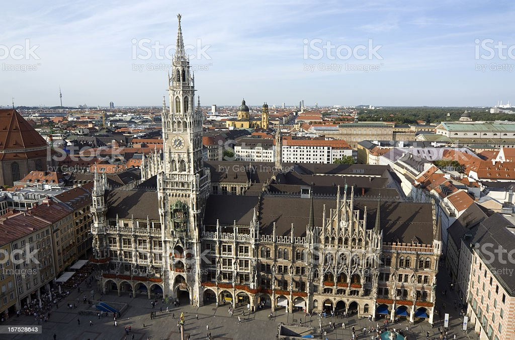 Munich skyline with town hall, Germany royalty-free stock photo