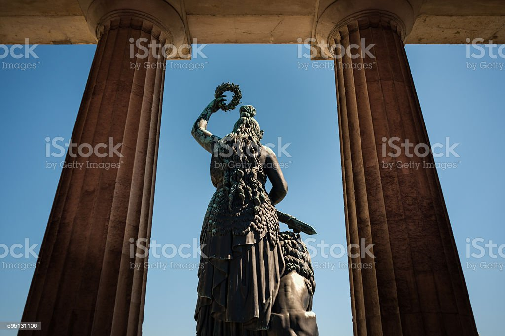 Munich Statue Bavaria stock photo