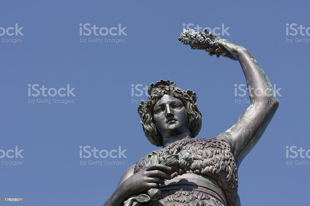 Munich: Statue of the Bavaria stock photo