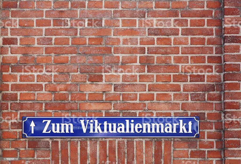 Munich: Street sign - Viktualienmarkt royalty-free stock photo
