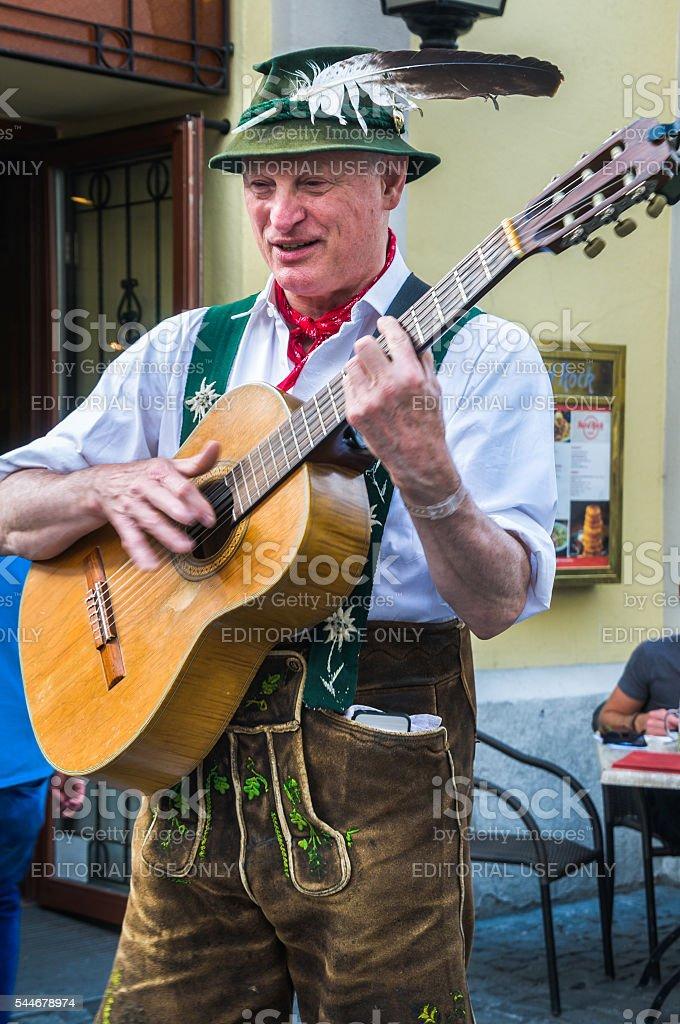 Munich Street Singer stock photo