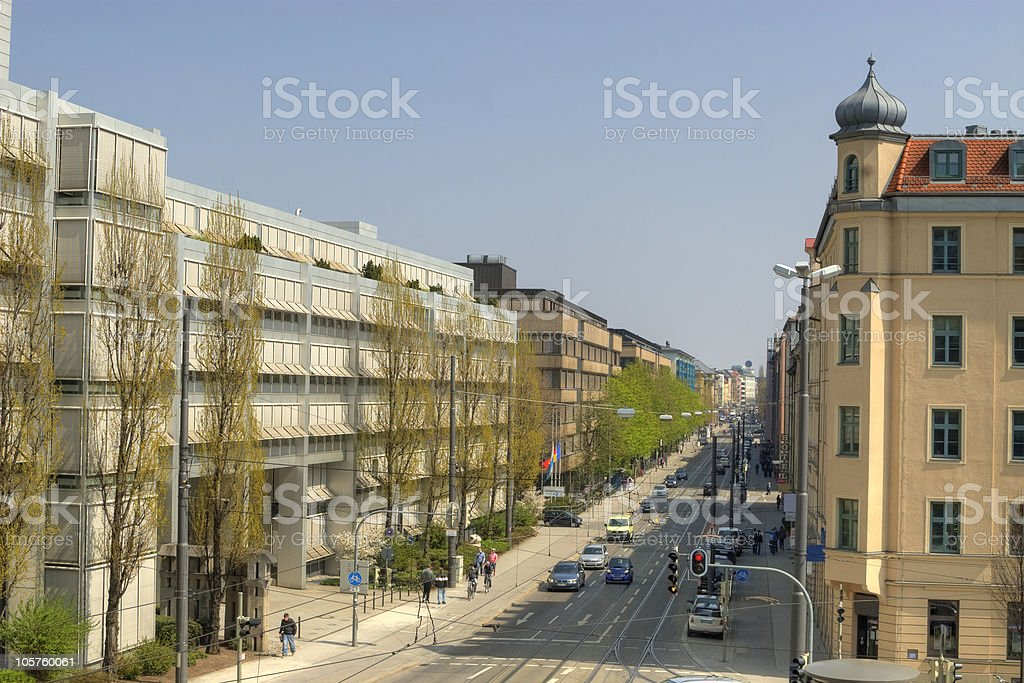 Munich street view royalty-free stock photo