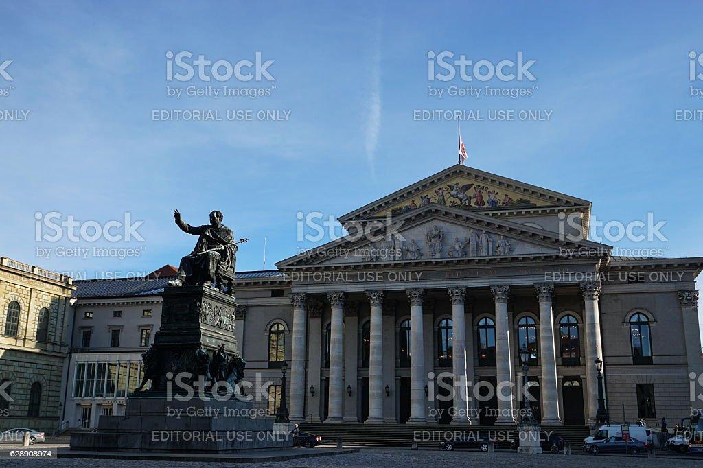 Munich. The National Theatre located at Max-Joseph-Platz. stock photo