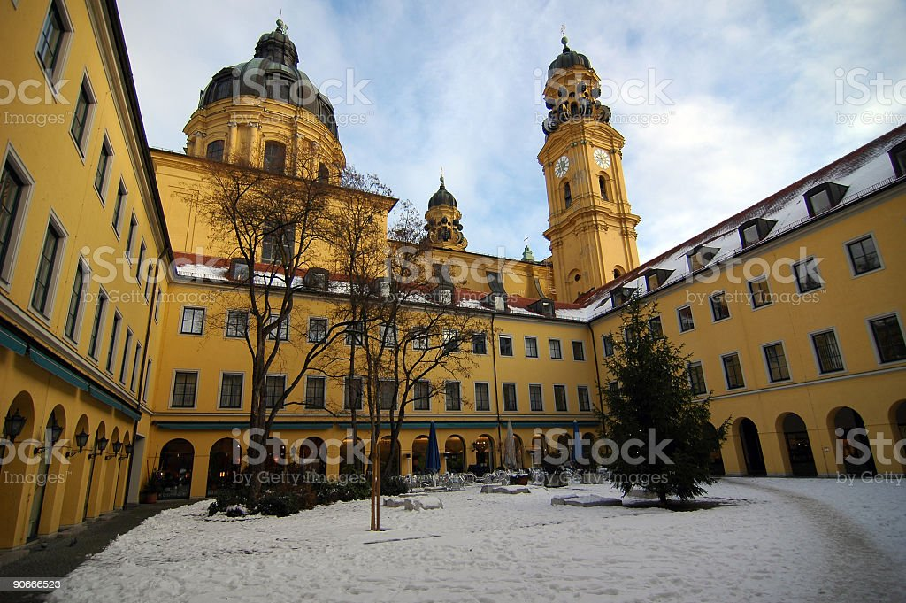 Munich - Theatinerkirche stock photo