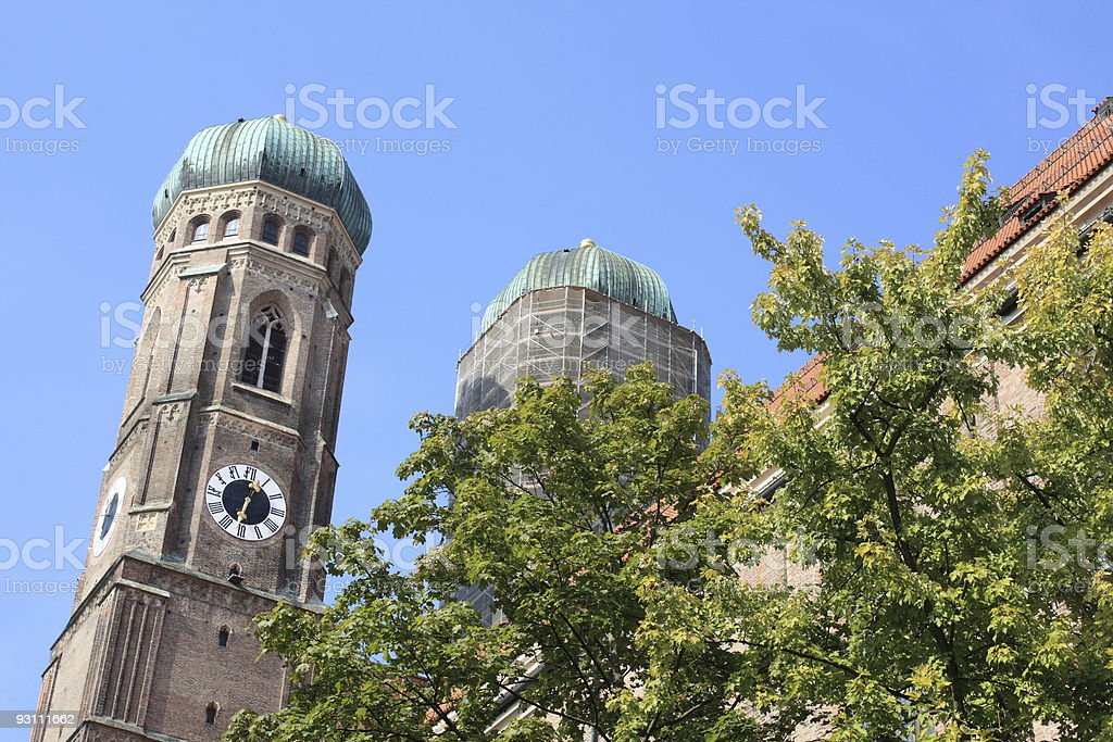 Munich tower stock photo