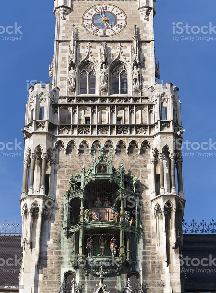 Munich Town Hall Glockenspiel, Germany royalty-free stock photo
