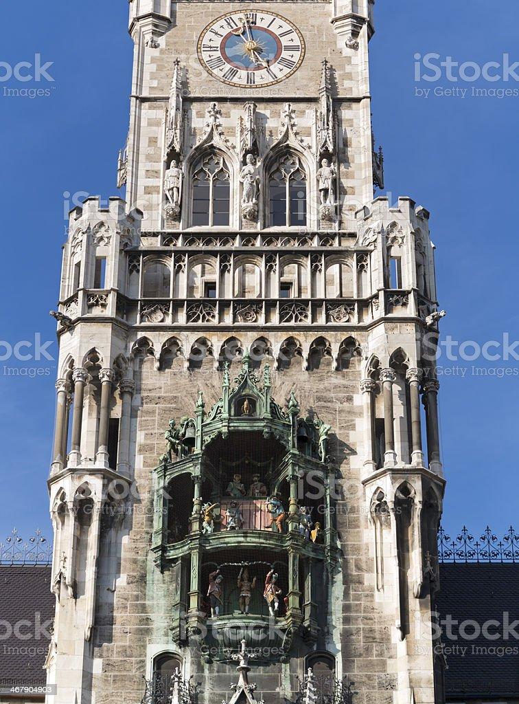 Munich Town Hall Glockenspiel, Germany stock photo