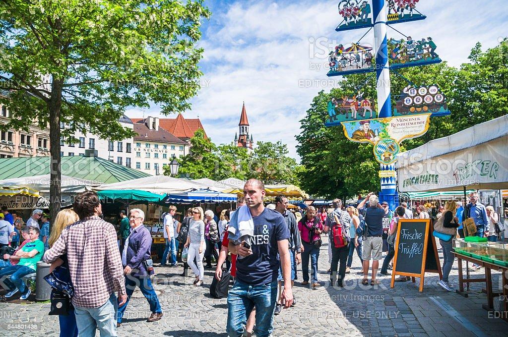 Munich Viktualienmarkt stock photo