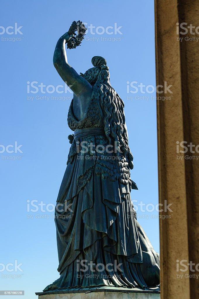 Munich's Statue of Bavaria stock photo