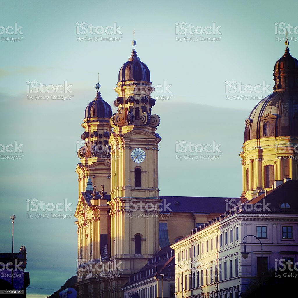 Munich's Theatinerkirche stock photo