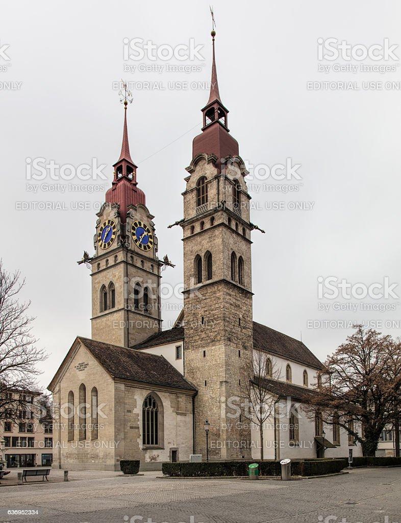 Municipal Church of Winterthur stock photo