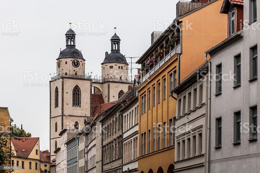 Municipal church (Stadtkirche)  of Wittenberg stock photo