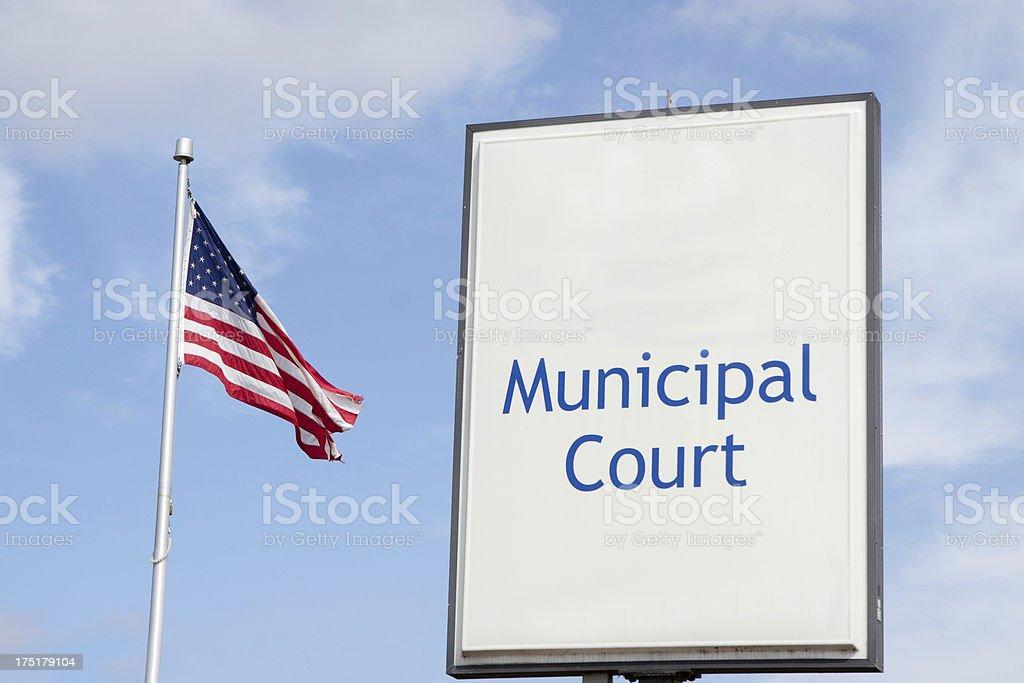 Municipal Court Sign royalty-free stock photo