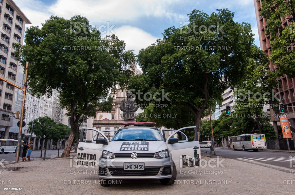 Municipal Guard Car in Rio de Janeiro stock photo