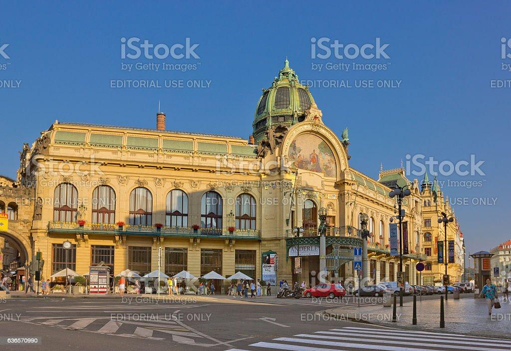 Municipal House in Prague, Czech Republic stock photo