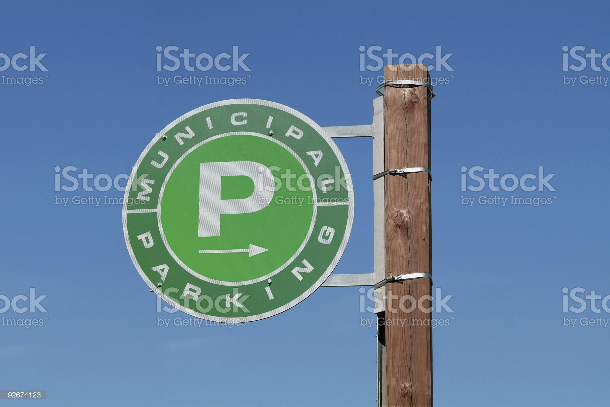 Municipal Parking royalty-free stock photo