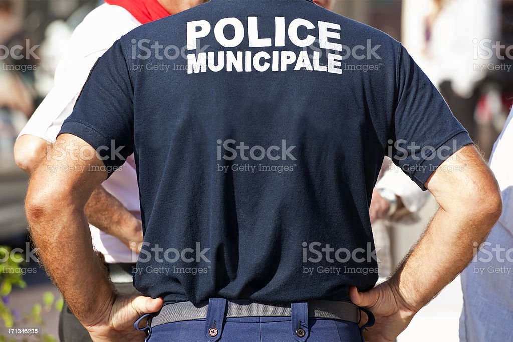 Police Municipale France stock photo
