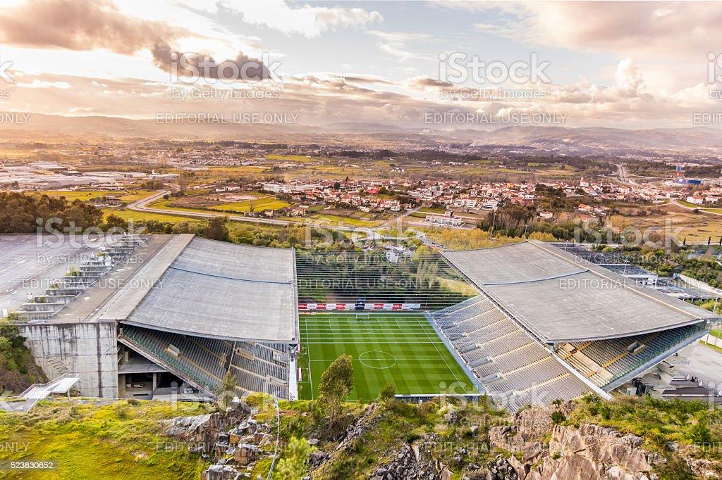 Municipal Stadium of FC Braga from above stock photo
