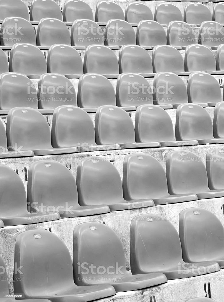 Municipal stadium of Palermo, chairs stock photo