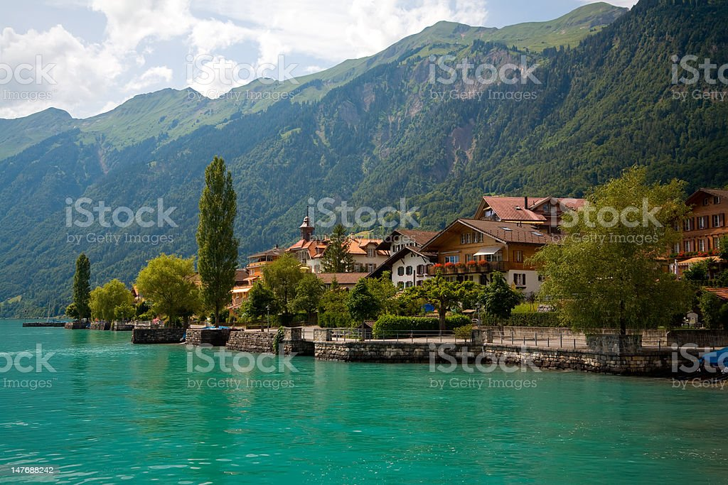Municipality of Brienz, Berne, Switzerland stock photo