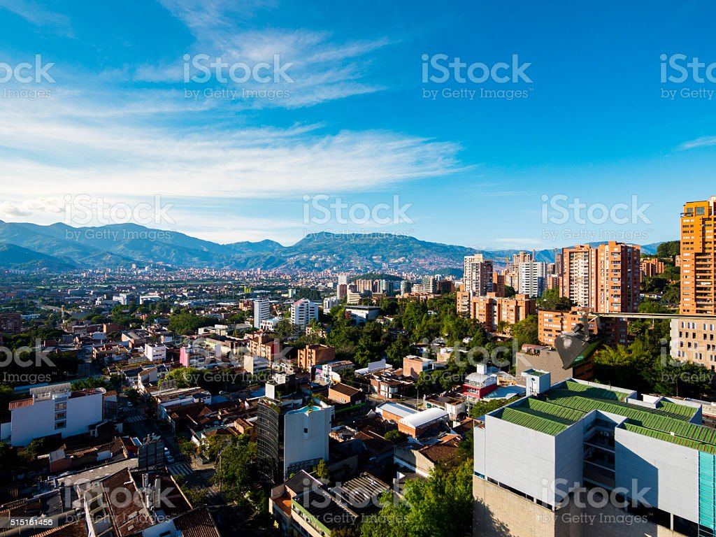 Municipality of Medellin in Colombia stock photo